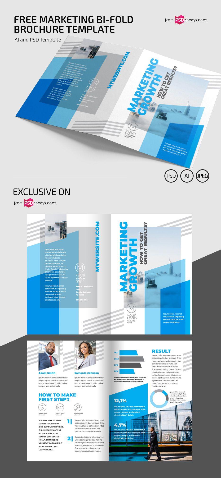 Free Marketing Bi Fold Brochure Template Bi Fold Brochure Brochure Template Brochure