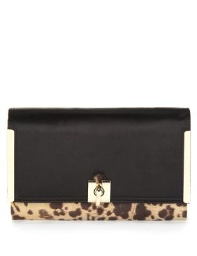 This M S Collection Leopard Print Clutch Bag Is A Sophisticated Addition To Your Outfit