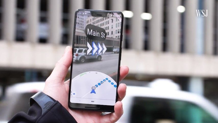 جوجل تطلق إمكانية تصفح Google Maps بإستخدام الواقع المعزز