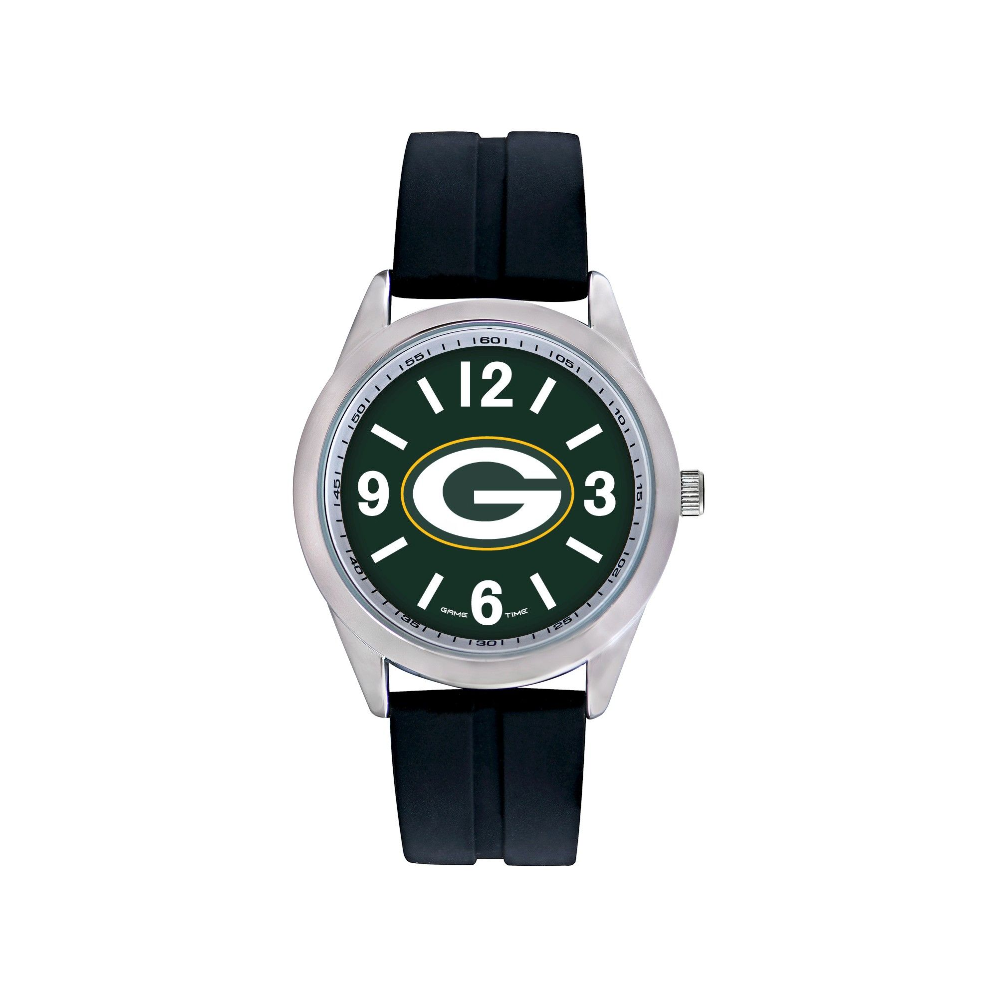 varsity time football watches s black bay nfl sports pin watch green packers game men