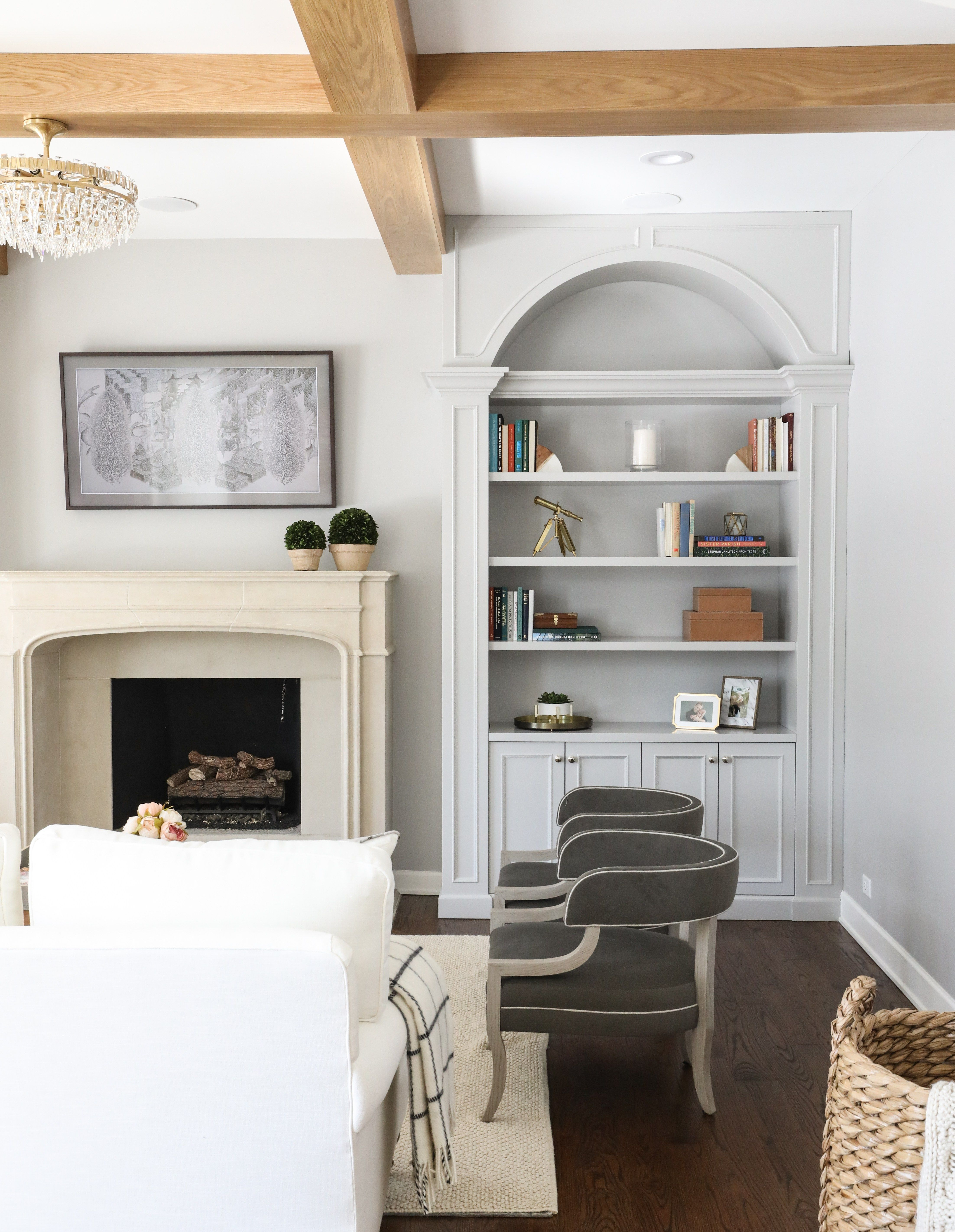 Arched Built Ins Park And Oak Interior Design Living