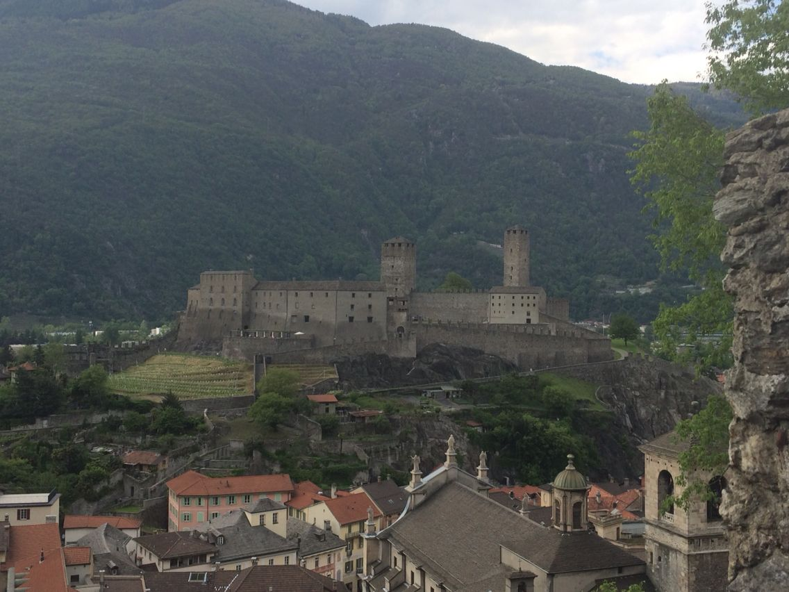 View of Castelgrande from Castello de Montebello, Bellinzona