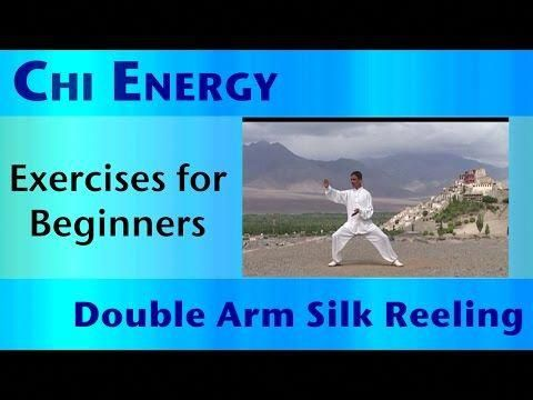 chi energy  exercises for beginners  double arm silk