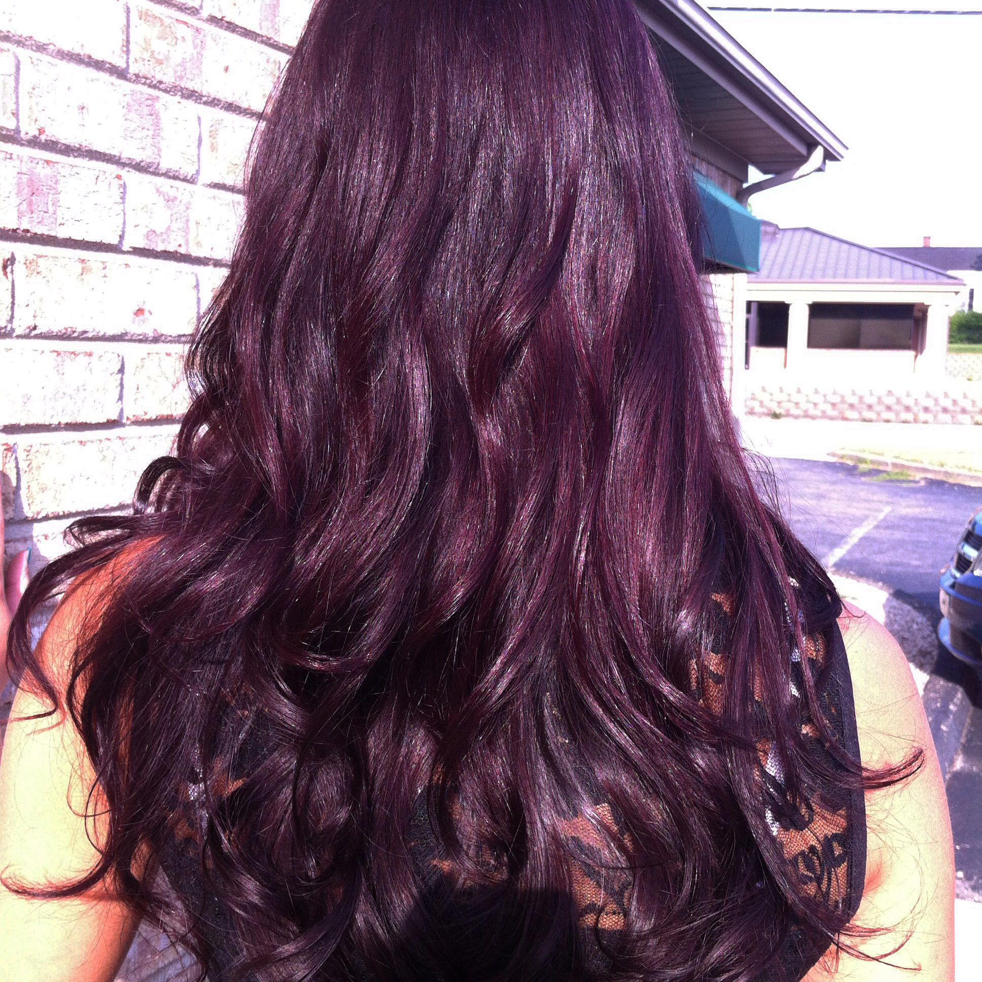 Long Violet Brown Hair Pravana This Is The Color I M Going To Try And Get Tomorrow Violet Brown Hair Purple Brown Hair Violet Hair Colors