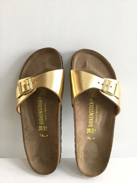 birkenstock madrid gold metallic sandals uk5 shoes. Black Bedroom Furniture Sets. Home Design Ideas
