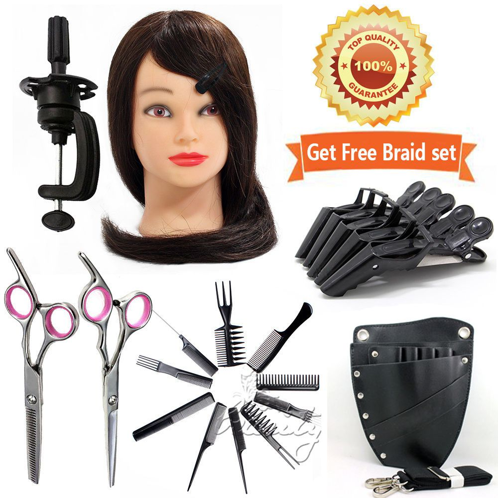Hairdressing Training Head 90 Real Cosmetology Mannequin
