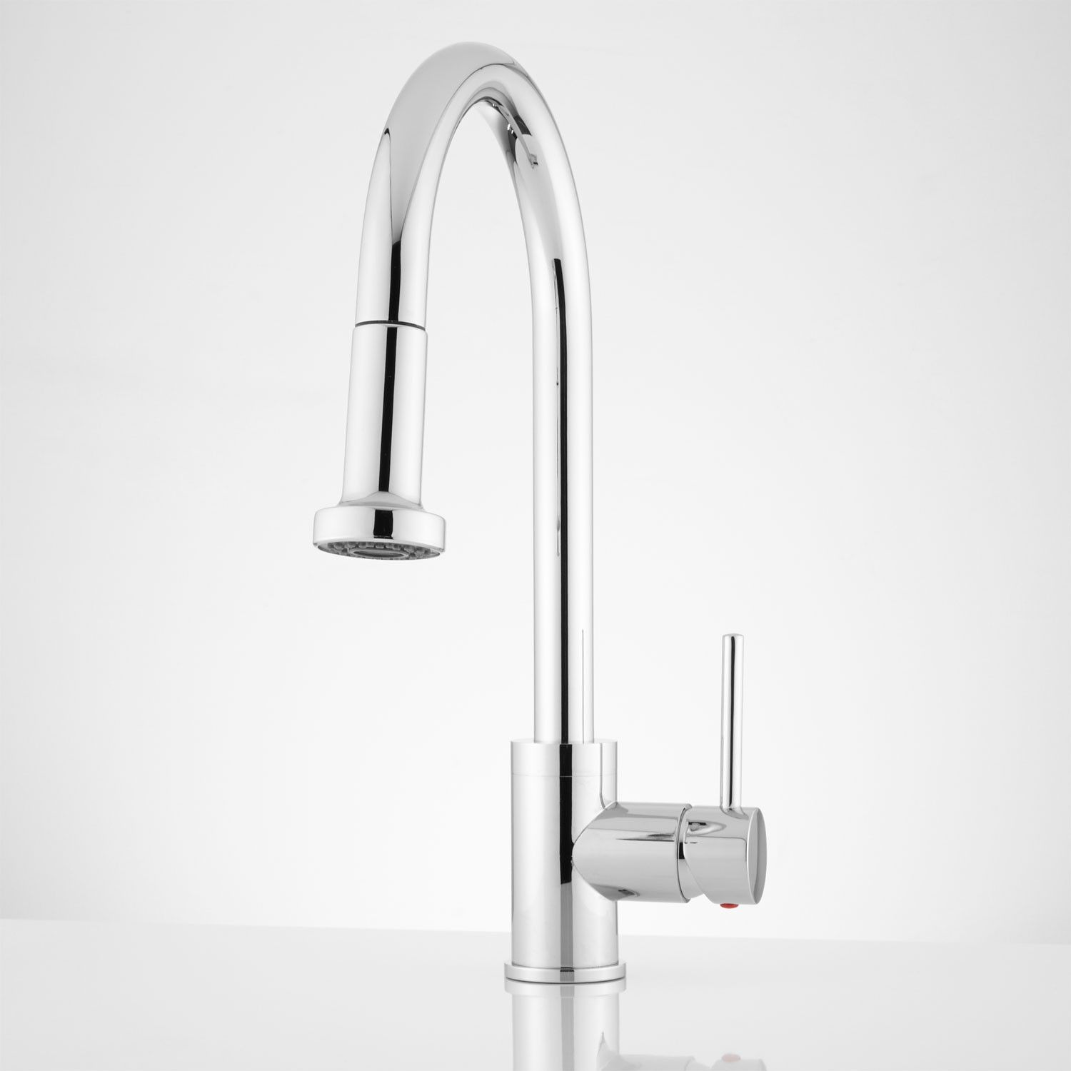 New Signature Hardware Single-Handle Pull Down Kitchen Faucet Chrome