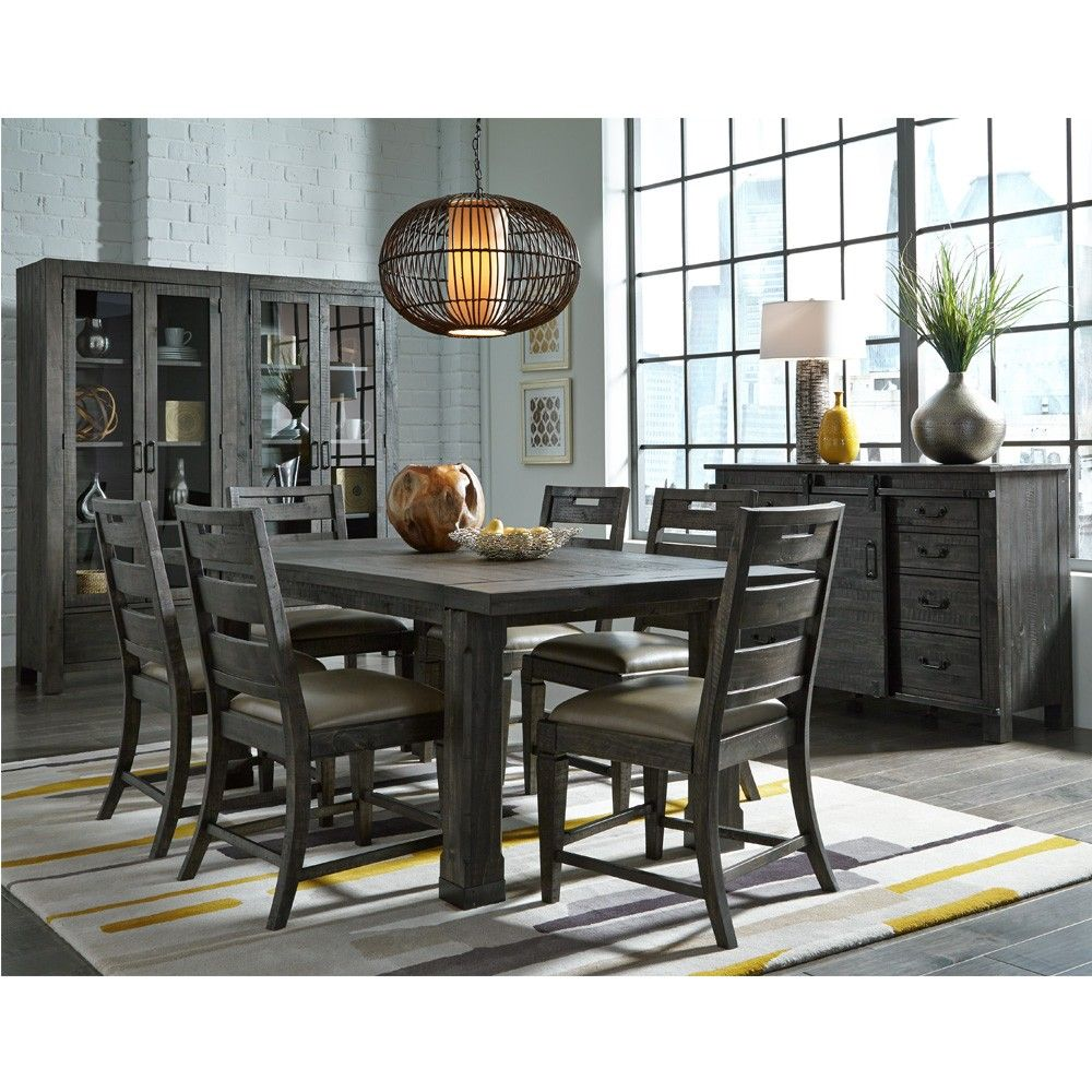 Magnussen's Abington Wood Dining Table In Weathered Charcoal Inspiration Charcoal Dining Room Design Decoration