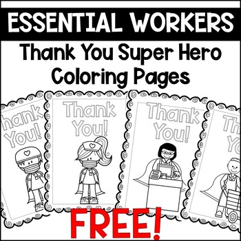 Thank You Essential Workers Art Google Search Worker Essentials Super Coloring Pages