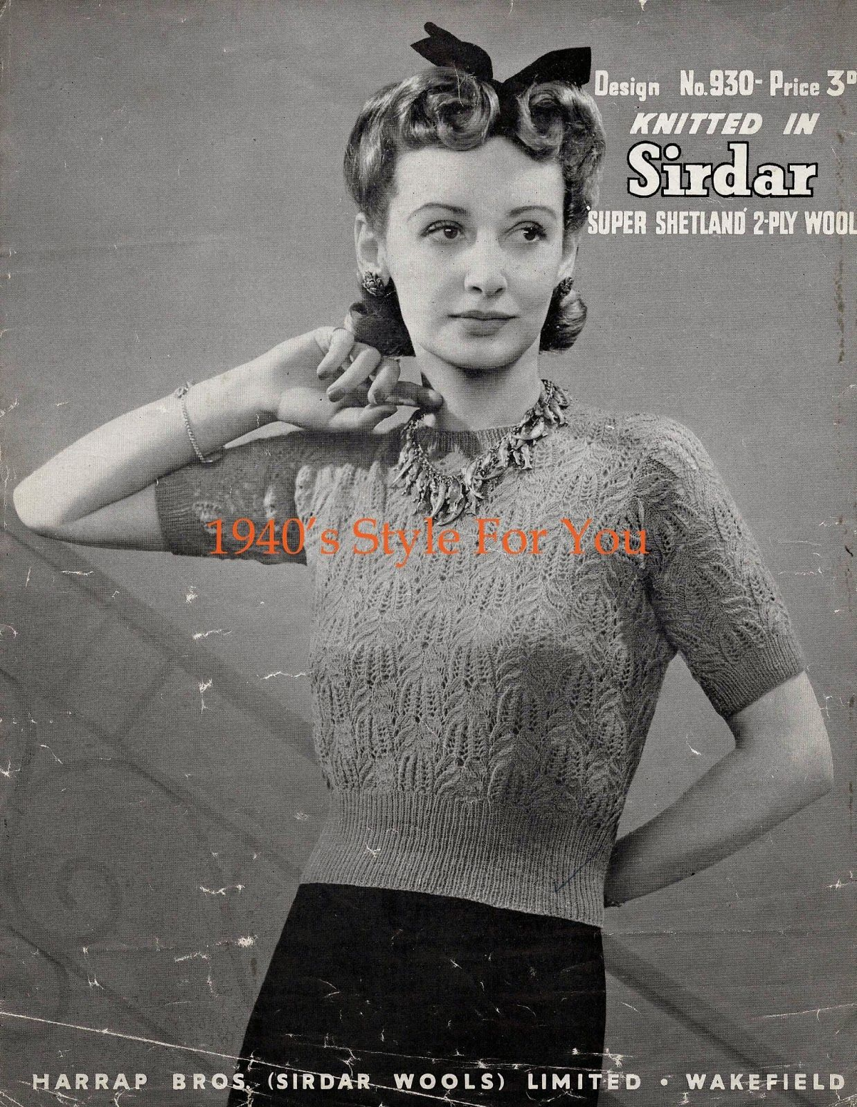 1940s style for you free knitting pattern 1940s jumper 1940s style for you free knitting pattern 1940s jumper sirdar 930 bankloansurffo Image collections