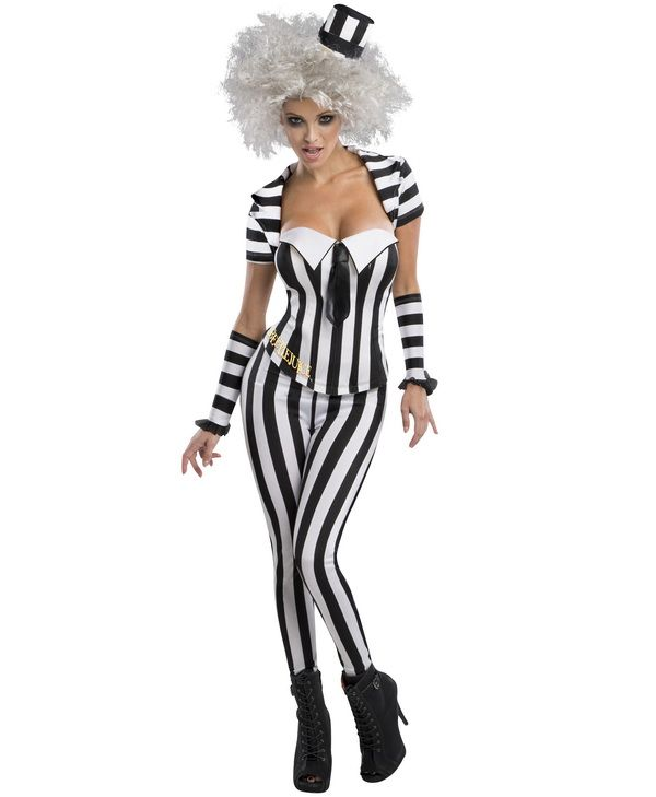 Adult DELUXE BEETLEJUICE Fancy Dress Costume Mens Halloween Outfit Beetle Juice
