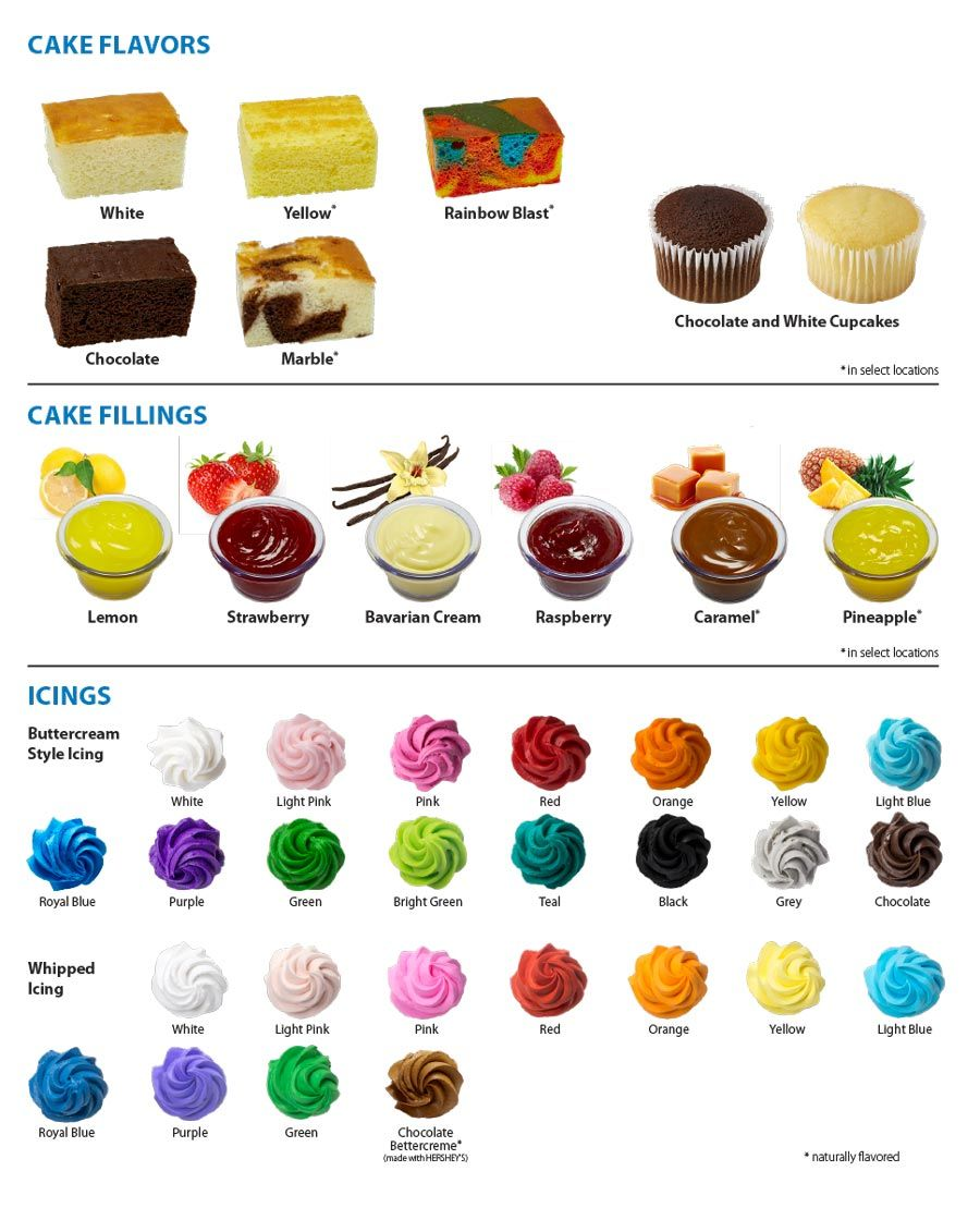 Walmart Cake Catalog Cake Flavors Cake Fillings Cake Icings Walmart Cakes Cake Flavors Cake