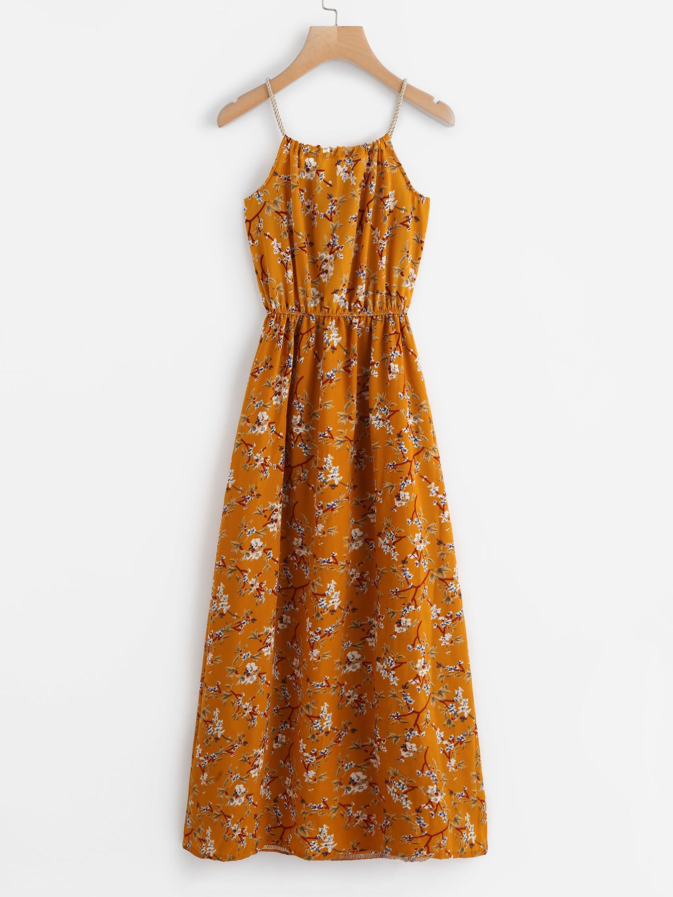 Shop Calico Print Faux Pearl Detail Cami Dress online. SheIn offers Calico Print…