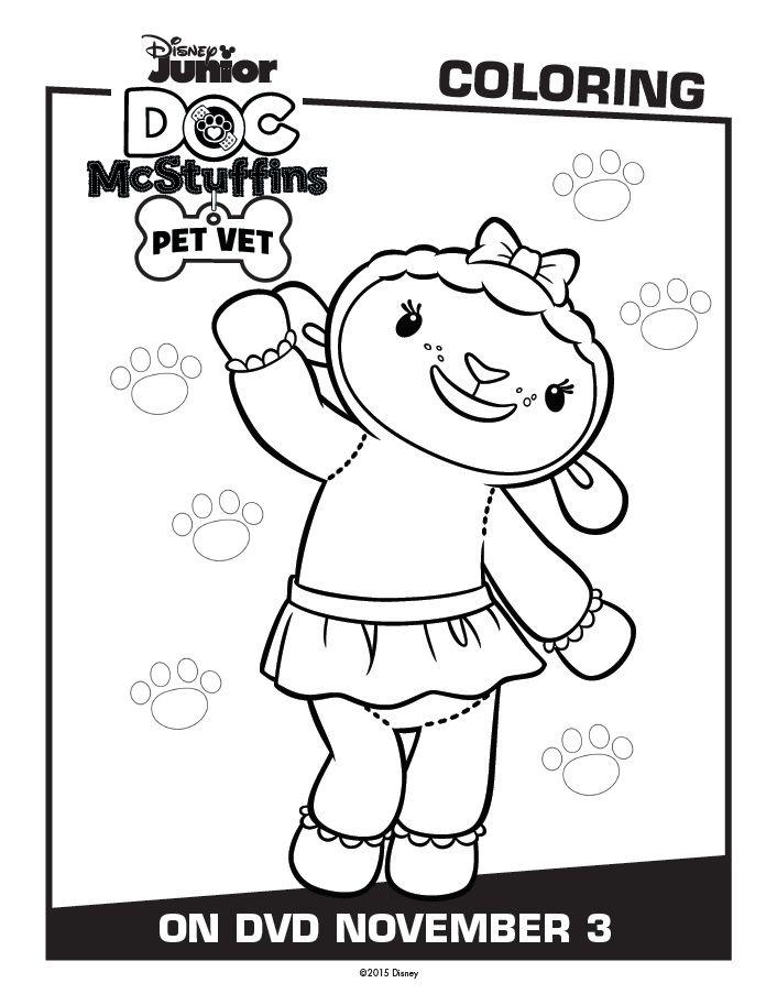Doc Mcstuffins Printable Activity Coloring Pages Pet Vet Doc Mcstuffins Coloring Pages Doc Mcstuffins Toys Coloring Pages