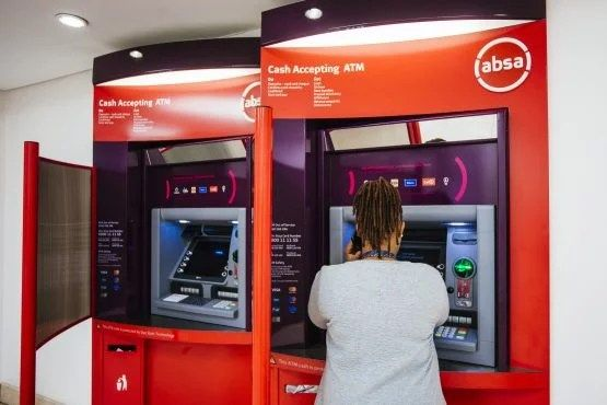 how to withdraw money from bank absa