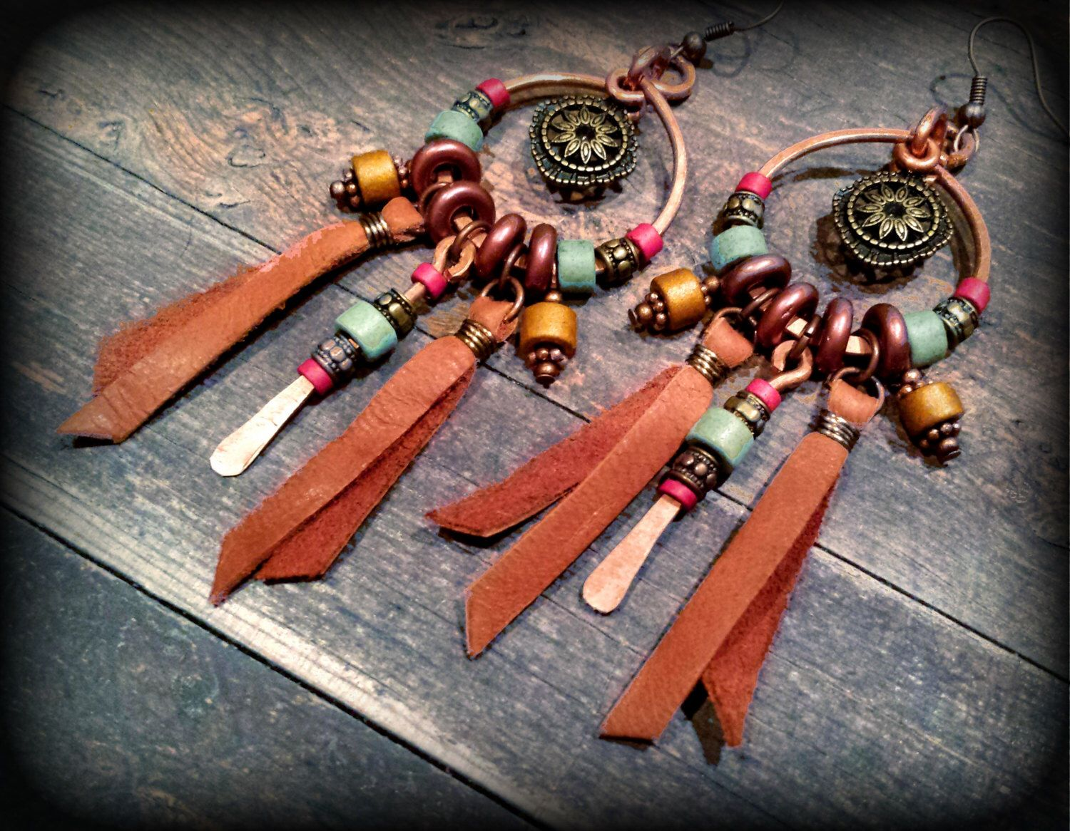 gypsy earrings, ethnic chandelier earrings, native Indian jewelry ...