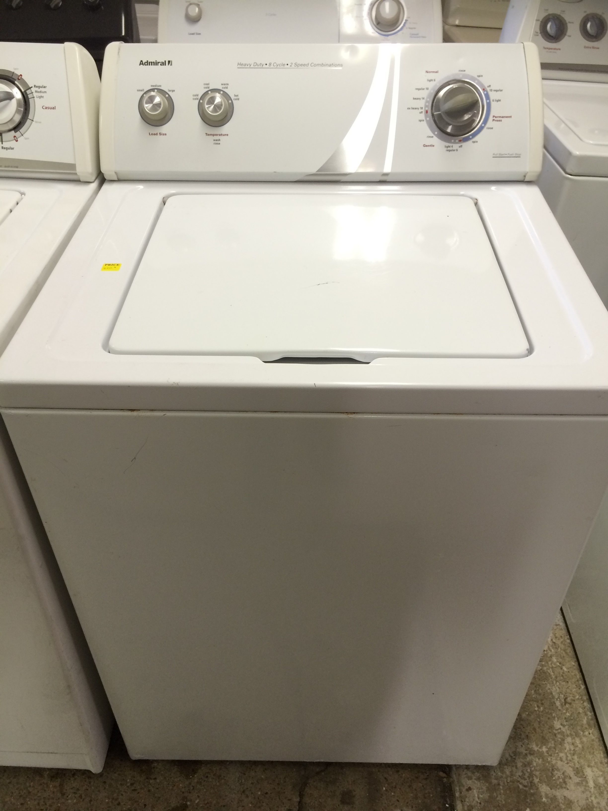 Admiral Washer In White 220 Houston Deals Usedappliances Washer Laundryroom Washer Washers Dryers Home Appliances