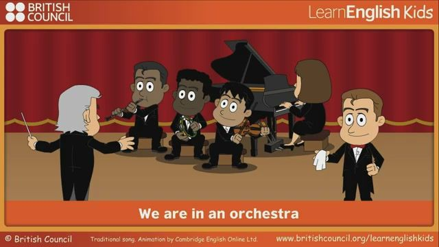 We are in an orchestra   LearnEnglish Kids   British Council