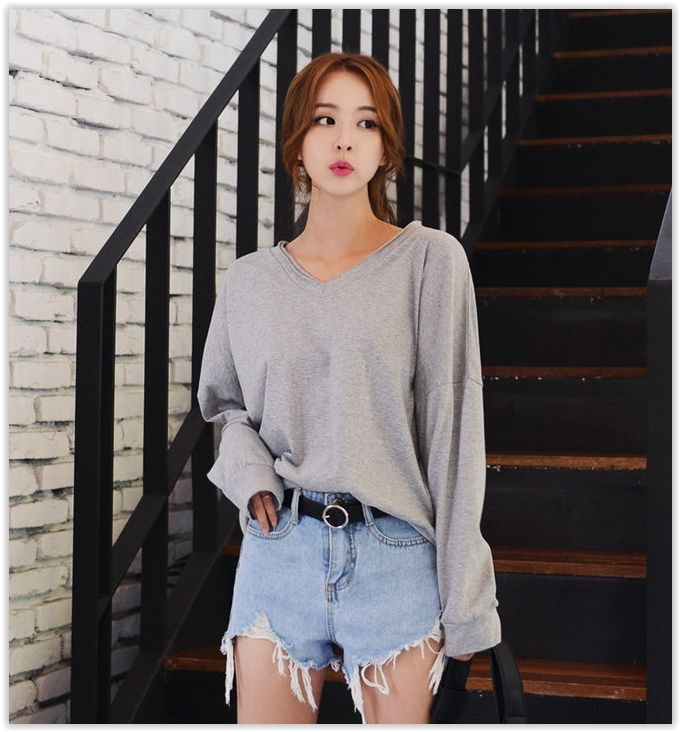 Deepny Long Sleeve Lettering T Shirt Korean Fashion Fall Korean Street Fashion Korean Fashion Summer