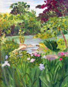 Painting - The Secret Garden by Linda Boss