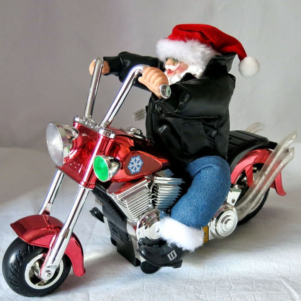 Musical Santa Riding A Motorcycle Plays Born To Be Wild See Video Ebay Finds Flying Monkey Santa