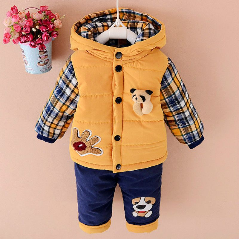 Onefa Baby Girls Boys Kids Children Clothes Autumn Winter Warm Down Jacket Coat