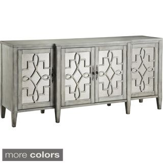 Showcasing Mirrored Door Fronts And 4 Doors This Lovely Sideboard Is Perfect For Stowing Spare Table Linens Or Dinnerware In Your Dining Room Kitchen
