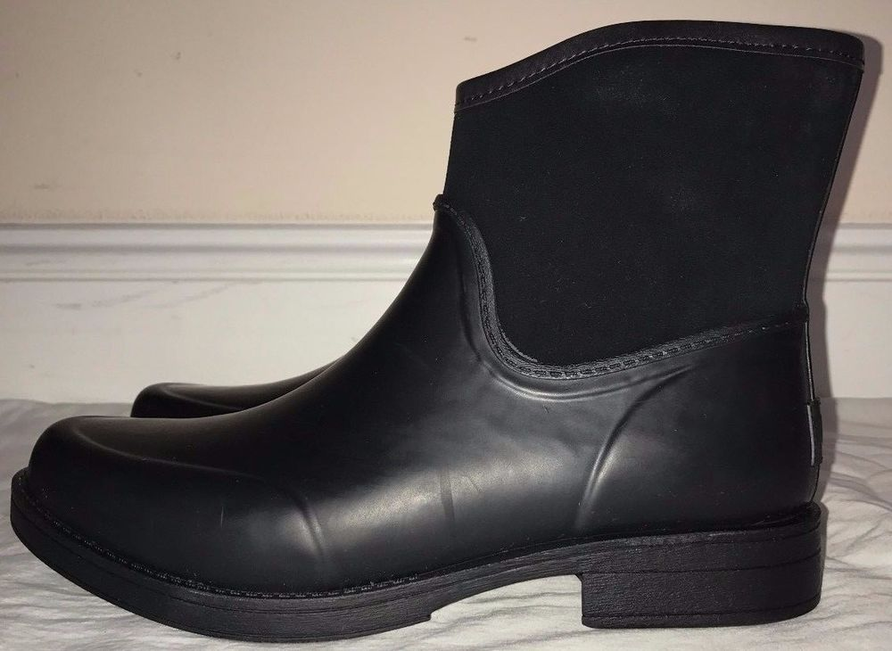 39cd09234b4 Ugg Australia Womens Black Paxton Rubber and Waterproof Suede Boots ...