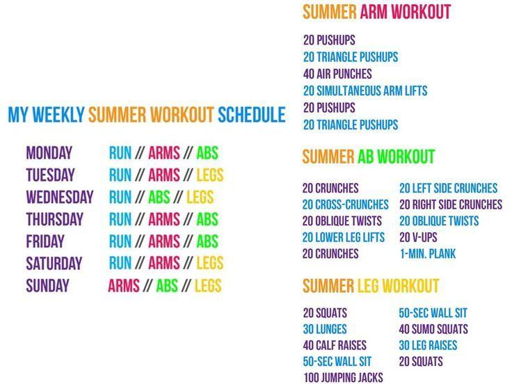 Workout Calendar For Kids