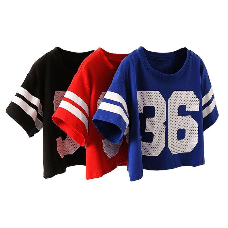 6b626241b85 Sexy Girl! Cropped Top T-Shirt Fashion Number 36 Letter Print T Shirt Women