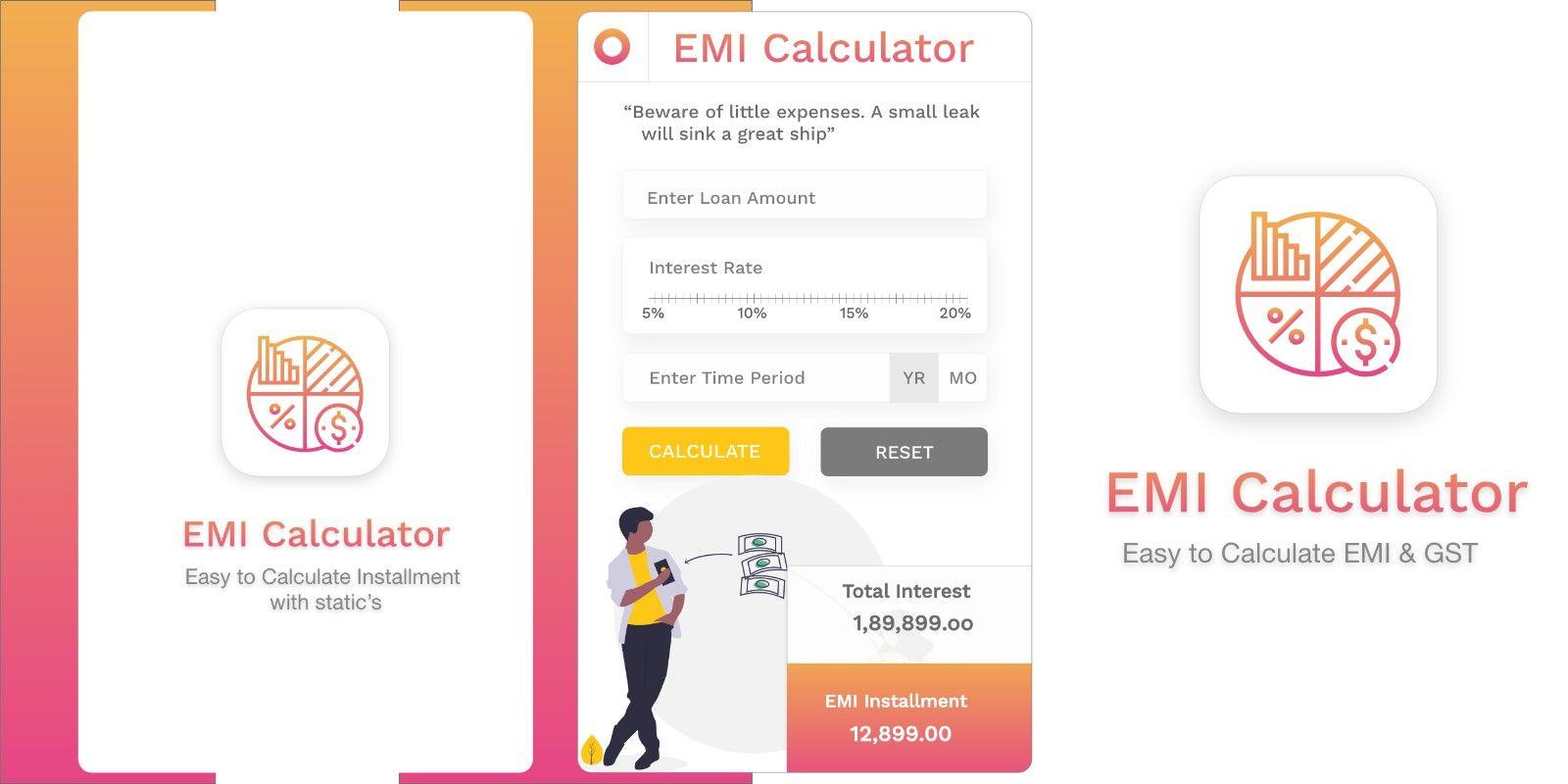 Emi Calculator Ios Source Code By Initiotechmedia Simple Mortgage Calculator Mortgage Interest Mortgage Calculator