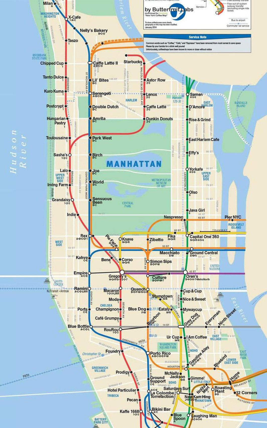 maps show best coffee shops by subway stops codesign business design