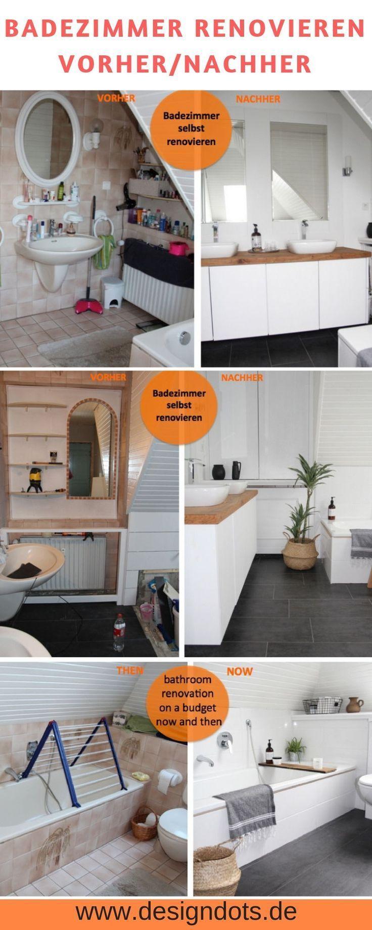 Badezimmer selbst renovieren: vorher / nachher - BAD Ideen Deko