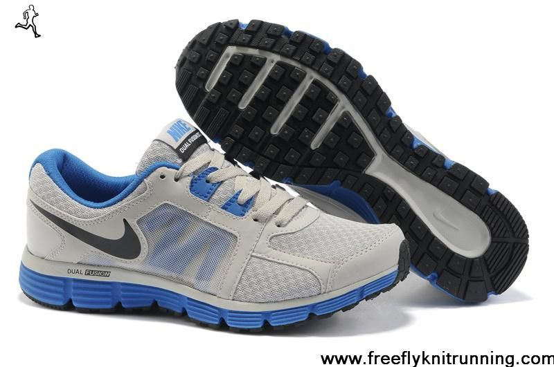 Wholesale Cheap Mens Nike Dual Fusion ST 2 Wolf Grey Treasure Blue Black Shoes  Running Shoes