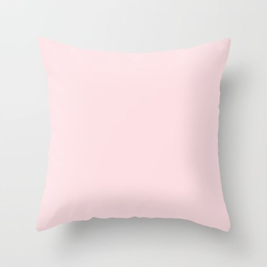 Baby Pink Solid Color Plain Room Nursery S Throw Pillow