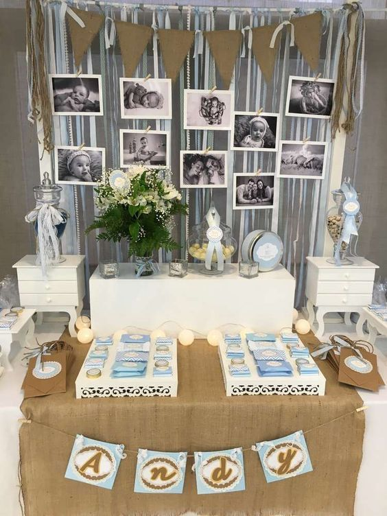 shabby chic baptism party