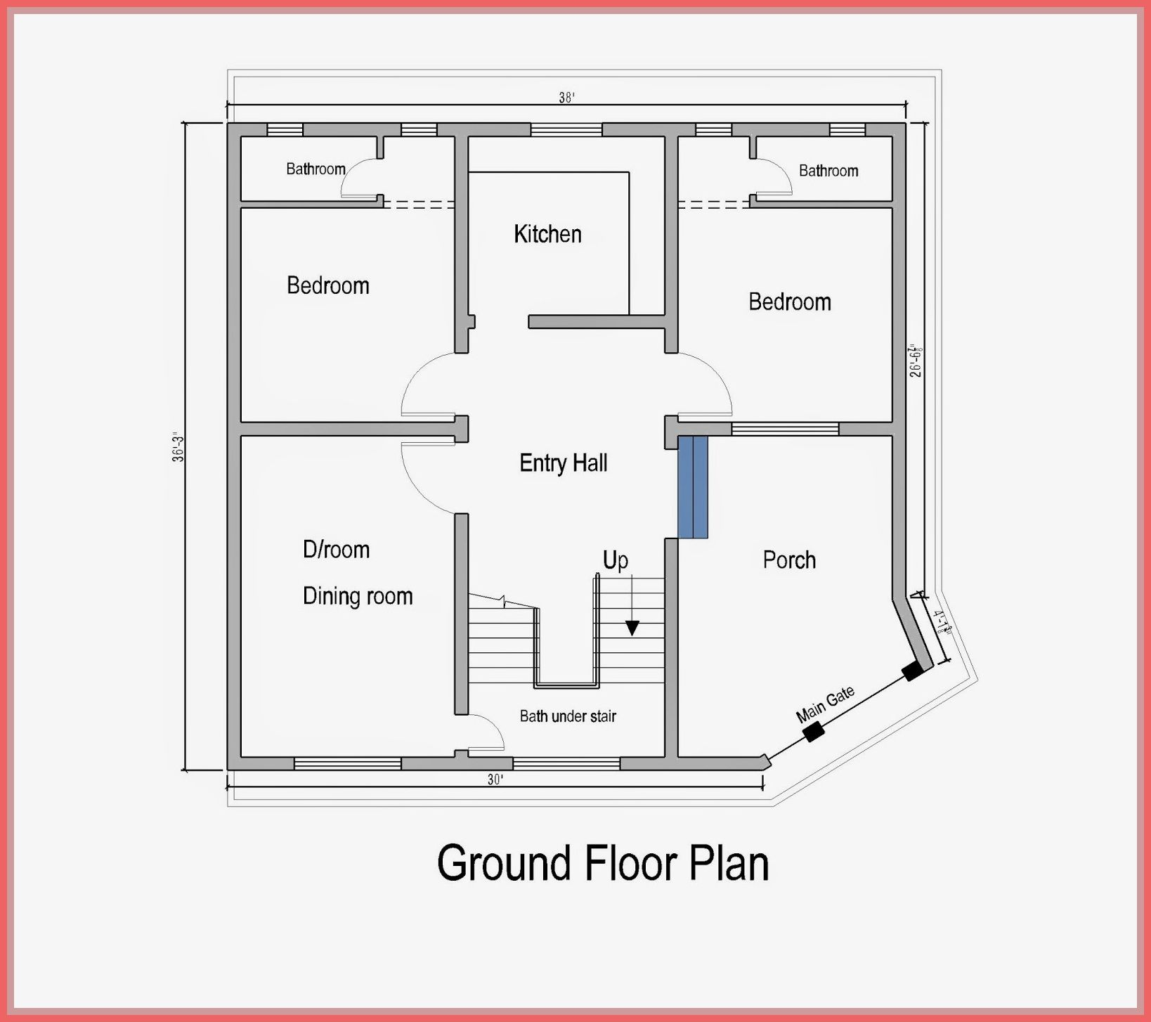 53 Reference Of Ground Floor Home Front Design Simple Small House Plans House Plans 10 Marla House Plan