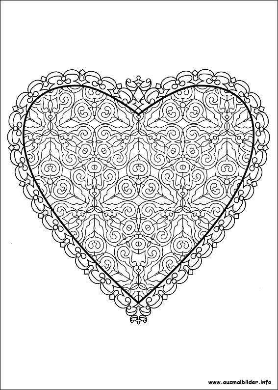 Valentinstag malvorlagen | Mandalas | Pinterest | Valentinstag ...