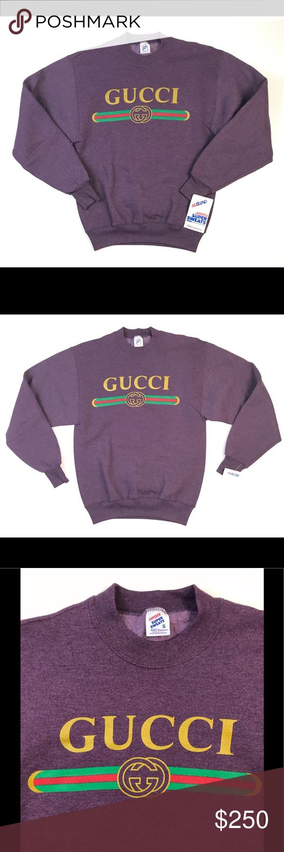 Vintage Gucci Sweater Small S Sweatshirt Crewneck Vintage Gucci Gucci Sweater Sweatshirts [ 1740 x 580 Pixel ]
