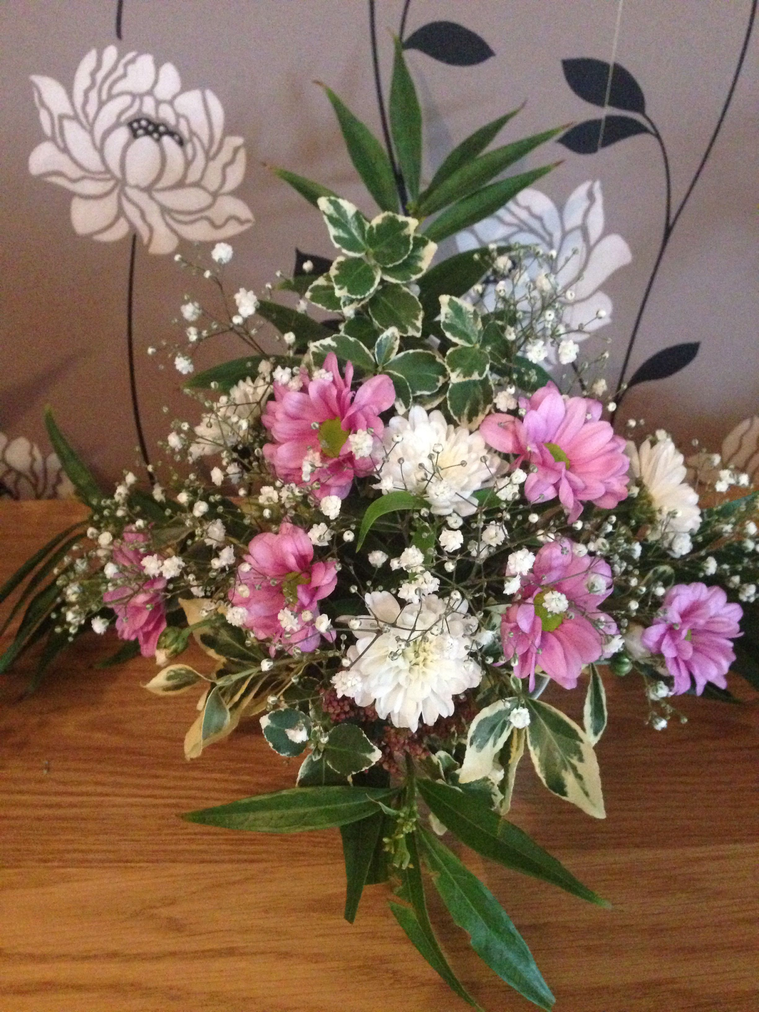 Floral Arrangements Pink N White