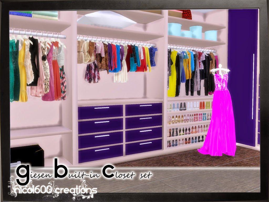 My Sims 4 Blog Walk In Closet & Living Set, Wallpaper and
