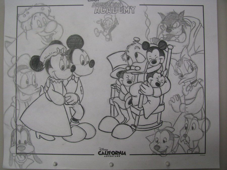 Kateyecooper S Deviantart Gallery Mickeys Christmas Carol Disney Collage Drawings