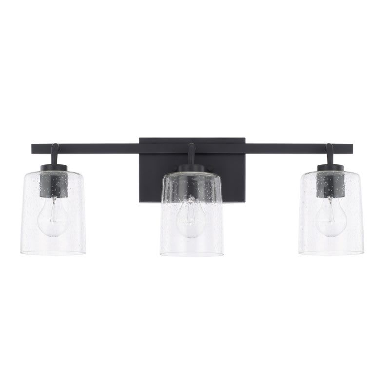 Capital Lighting 128531 449 Greyson 3 Light 25 Wide Bathroom Vanity Light Matte Black Indoor Lighting Bathroom Fixtures Vanity Light In 2020 Vanity Lighting Bathroom Light Fixtures Bathroom Lighting