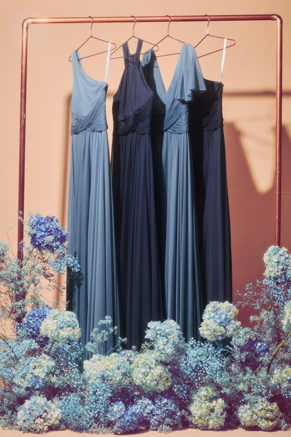 Shades Of Blue Pair Steel Blue And Marine For A Beautiful Blu Steel Blue Bridesmaid Dresses Davids Bridal Bridesmaid Dresses Blue Dark Blue Bridesmaid Dresses [ 1692 x 1128 Pixel ]