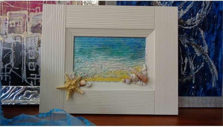 Il quadro decorato con le conchiglie | Vendita Quadri Online ...