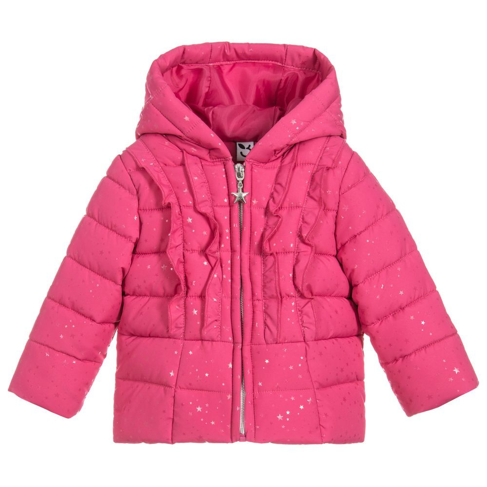 ee43bfd7 Girls Pink Padded Coat for Girl by 3Pommes. Discover more beautiful  designer Coats & Jackets for kids online