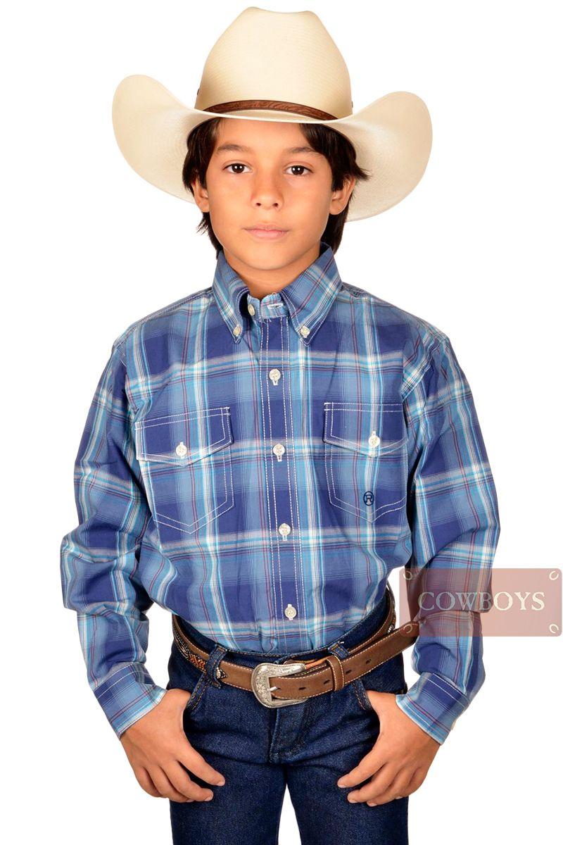 e87c34ffb5 Camisa Roper Infantil Xadrez Azul camisa infantil manga longa importada  marca Roper, tecido 100% algodão xadrez nas cores azul marinho, ...