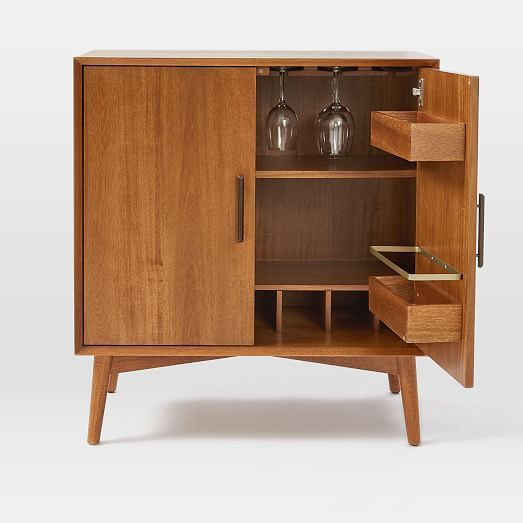 Mid Century Bar Cabinet Small Westelm