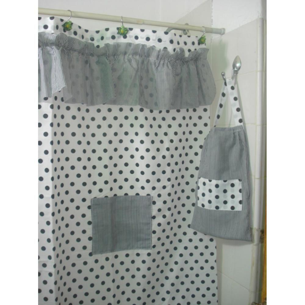 Cortinas bano tela para decorar cn estilo tu ambiente for Cortinas para bano modernas