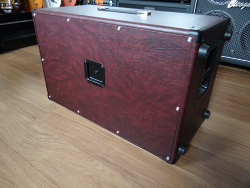 Wine Taurus Tolex Decor Filing Cabinet